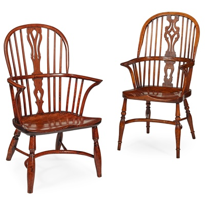 Lot 81 - TWO WINDSOR ARMCHAIRS