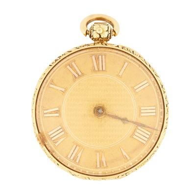 Lot 370 - An 18ct gold pocket watch
