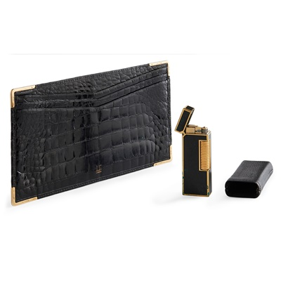 Lot 136 - A gentleman's note wallet and lighter, Dunhill