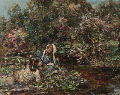 Lot 157 - EDWARD ATKINSON HORNEL (SCOTTISH 1864-1933)