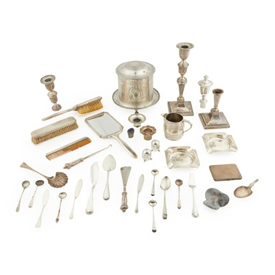 Lot 456 - A large mixed group of silver and plate