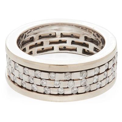Lot 24-A modern diamond set band