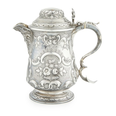 Lot 470 - A Scottish Victorian lidded jug
