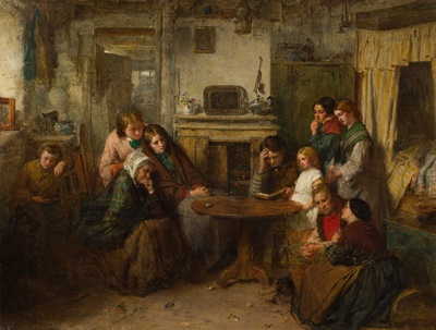 Lot 130 - THOMAS FAED R.A., R.S.A (SCOTTISH 1826-1900)
