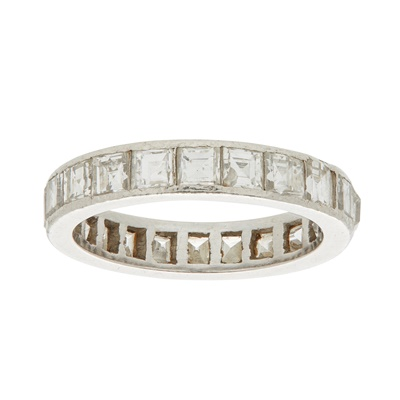 Lot 26-A diamond set eternity ring