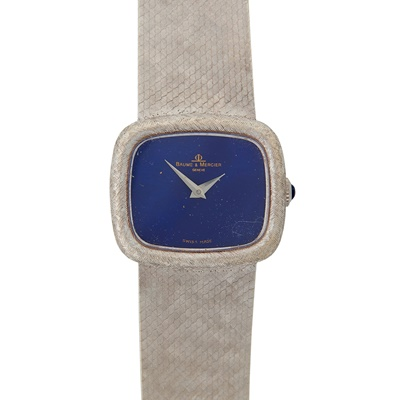 Lot 331 - A lady's 18ct white gold wrist watch, Baume & Mercier