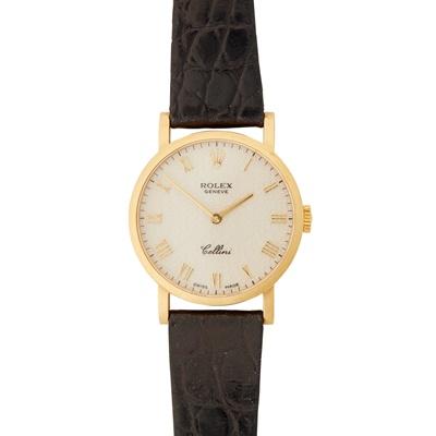 Lot 354 - A lady's 18ct gold wristwatch, Rolex