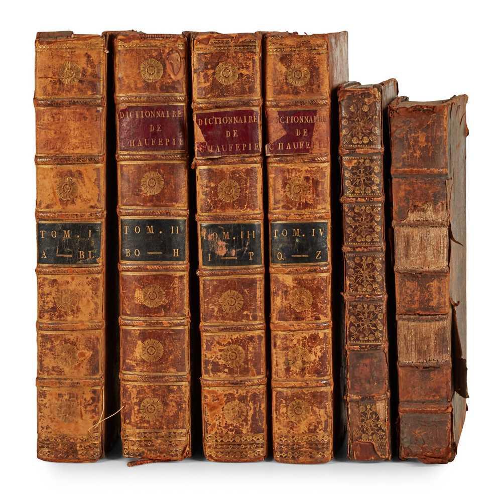 Lot 55 - 3 works in 6 volumes, comprising Chaufepié, Jacques George de