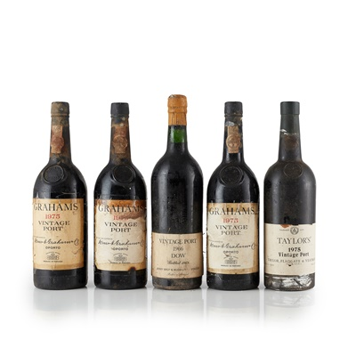 Lot 676 - GROUP OF FIVE MIXED PORTS