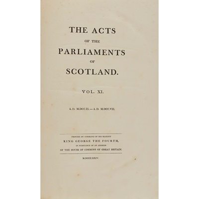 Lot 110 - The Acts of the Parliaments of Scotland