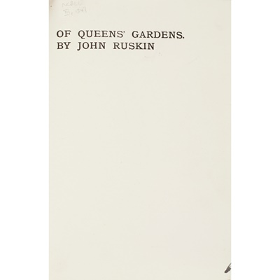 Lot 323 - [Vellum Printing by the Ballantyne Press] Ruskin, John