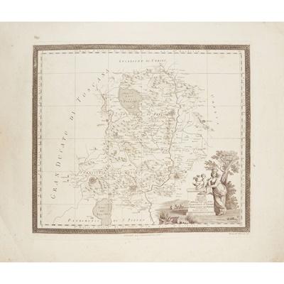 Lot 16 - 2 bound folios of European maps comprising