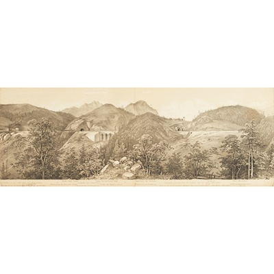 Lot 384 - Alps, Austrian Railways, Panorama - Ghega, Karl Ritter von
