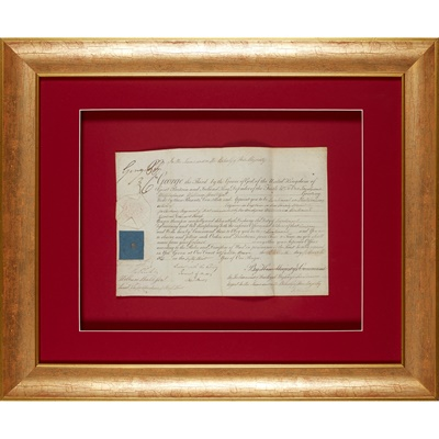 Lot 232 - George, Prince of Wales, Prince Regent (later George IV)
