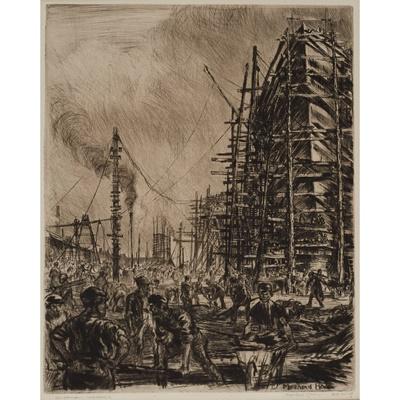 Lot 149 - SIR MUIRHEAD  BONE H.R.S.A., H.R.W.S., H.A.R.I.B.A., H.R.E., L.L.B., D.LITT (SCOTTISH 1876-1953)