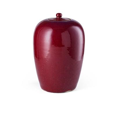 Lot 138 - RED GLAZED GINGER JAR
