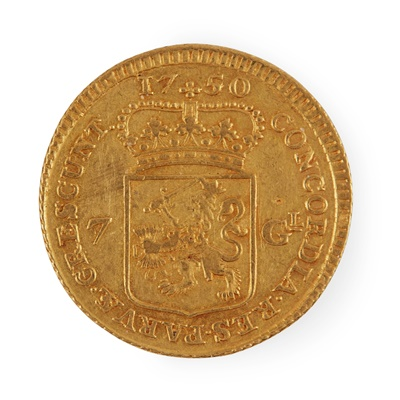 Lot 99 - G.B. - A George III 1/3 Guinea and Holland, a seven Gulden coin