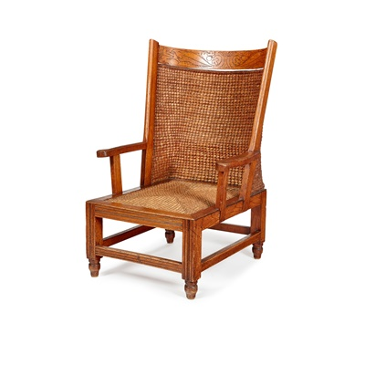 Lot 54 - AN UNUSUAL ORKNEY CHAIR