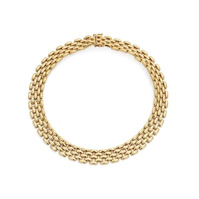Lot 67 - A brick-link necklace