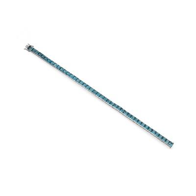 Lot 103 - A blue topaz line bracelet, by H. Stern