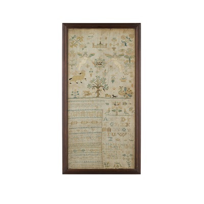 Lot 61 - TWO 18TH CENTURY SAMPLERS
