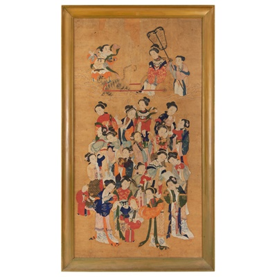 Lot 159 - FEMALE DEITY 'SONGZI NIANGNIANG' COLOUR ON PAPER