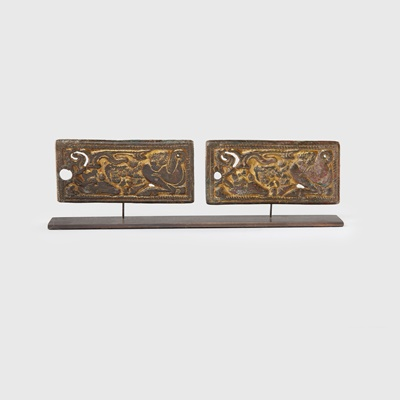 Lot 72 - COLLECTION OF ORDOS BRONZE PLAQUES
