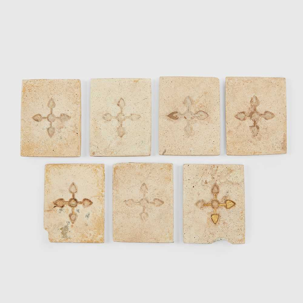 Lot 68 - GROUP OF ANCIENT CHINESE GILT TILES