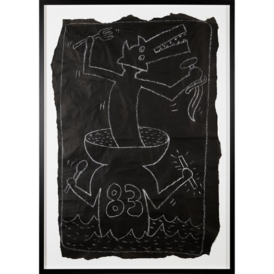 Lot 43 - KEITH  HARING  (AMERICAN  1958-1990)