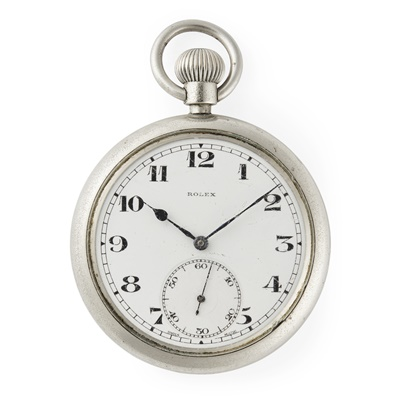 Lot 192 - Rolex: a gentleman's military issue pocket watch