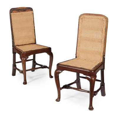 Lot 48 - PAIR OF GEORGE I MAHOGANY SIDE CHAIRS