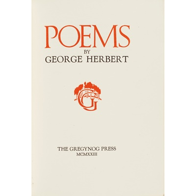 Lot 331 - Gregynog Press - Herbert, George