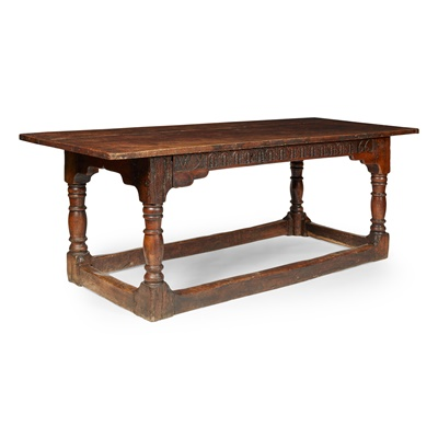 Lot 32 - OAK 17TH CENTURY STYLE REFECTORY TABLE