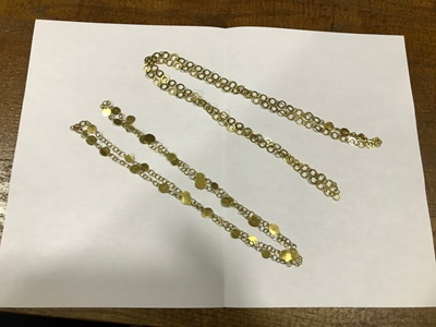 Lot 25 - A pair of 18ct gold chains