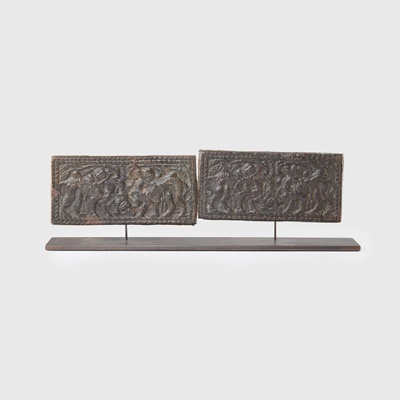 Lot 71 - COLLECTION OF ORDOS BRONZE PLAQUES