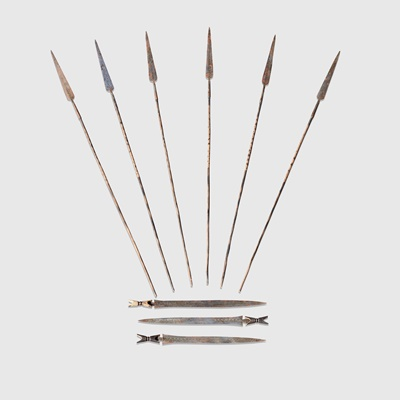 Lot 145 - COLLECTION OF TIKAR WEAPONRY