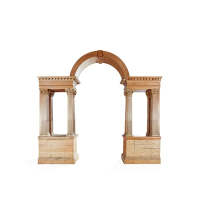Lot 85 - GEORGE II STRIPPED PINE PALLADIAN ARCH AND COLUMNS