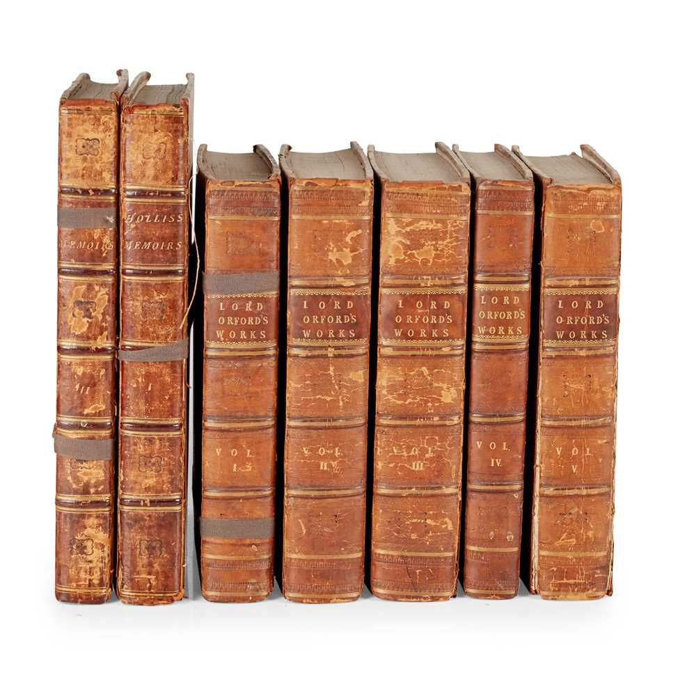 Lot 127 - 2 Works, comprising Walpole, Horatio, 4th Earl of Orford
