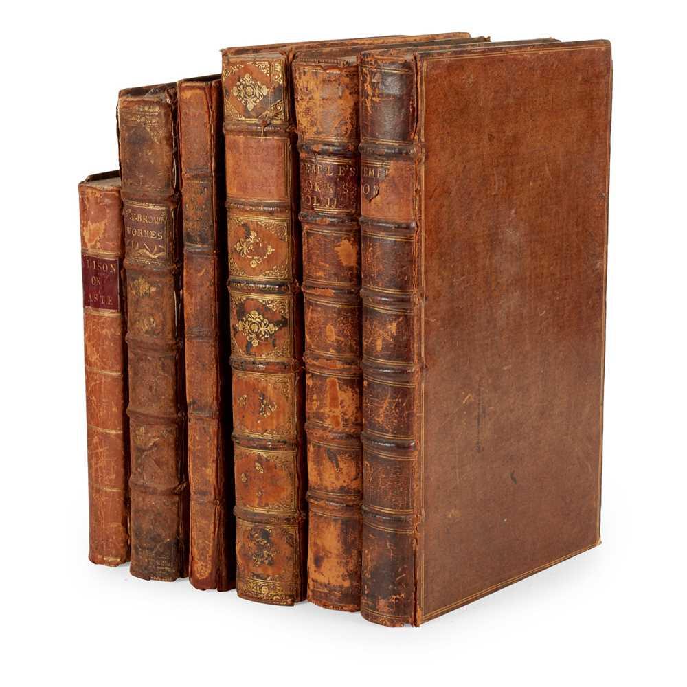 Lot 109 - Six quarto and folio volumes, comprising