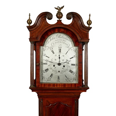 Lot 108 - SCOTTISH GEORGE III MAHOGANY AND LINE INLAID LONGCASE CLOCK, BY JOHN ROBERTSON, EDINBURGH