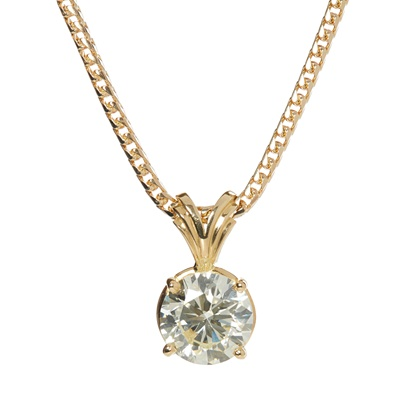 Lot 61 - A single stone diamond pendant