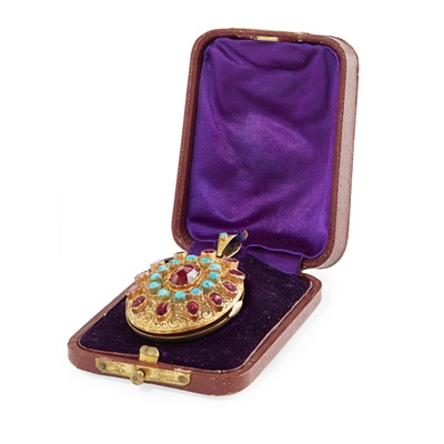 Lot 7 - A German multi-gem set memorial pendant