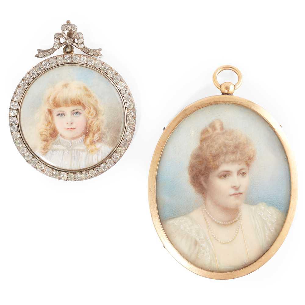 Lot 6 - Two portrait miniatures