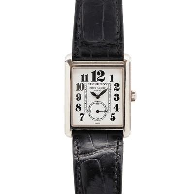 Lot 130 - Patek Philippe: a gentleman's white gold wrist watch