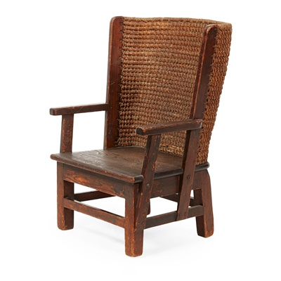 Lot 53 - AN EDWARDIAN CHILD'S ORKNEY CHAIR