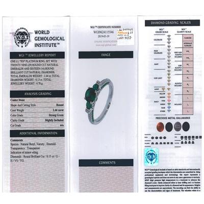 Lot 90 - A three stone emerald ring