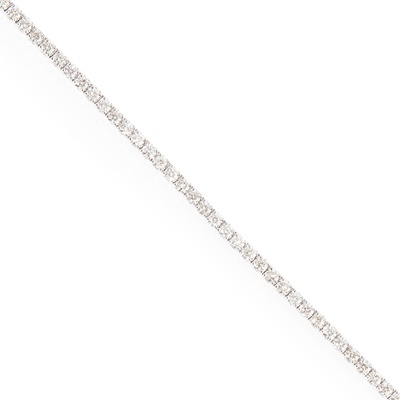 Lot 60 - A diamond set line bracelet