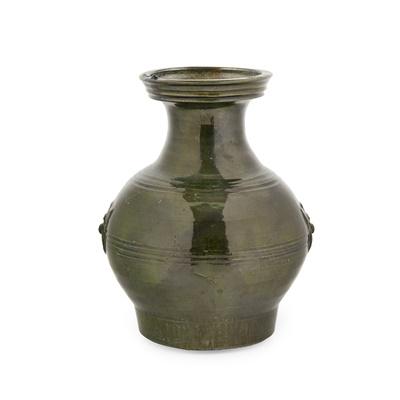 Lot 91 - GREEN-GLAZED JAR
