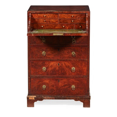 Lot 82 - LATE GEORGE II WALNUT DWARF SECRETAIRE CHEST