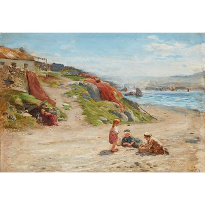 Lot 109 - WILLIAM MCTAGGART R.S.A., R.S.W (SCOTTISH 1835-1910)